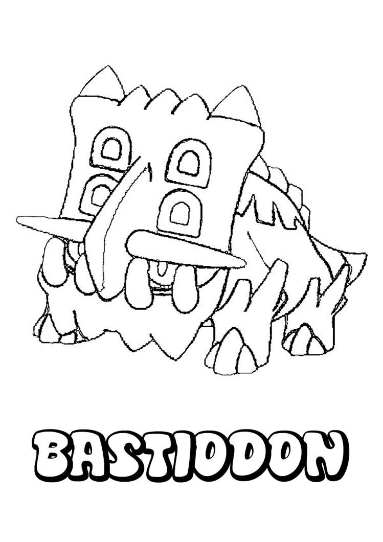 Pokemon coloring pages hellokids - Rock Pokemon Coloring Pages Shieldon Coloring Pages You Can Print Out This Bastiodon Pokemon Coloring