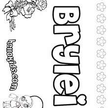 Brylei - Coloring page - NAME coloring pages - GIRLS NAME coloring pages - B names for girls coloring sheets