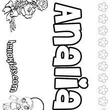 Analia - Coloring page - NAME coloring pages - GIRLS NAME coloring pages - A names for girls coloring sheets