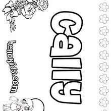 Cally - Coloring page - NAME coloring pages - GIRLS NAME coloring pages - C names for girls coloring sheets