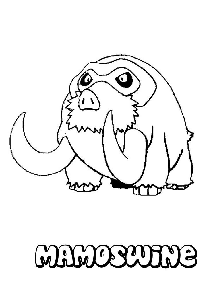 Mamoswine Pokemon coloring page