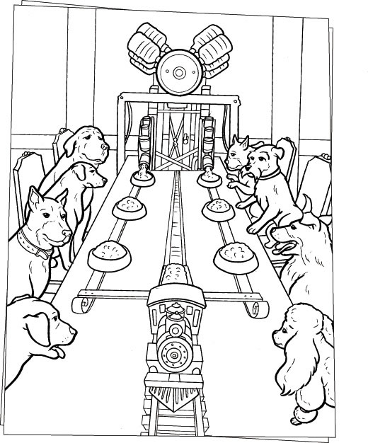 Dog Lunch Machine Coloring Pages Hellokids Com