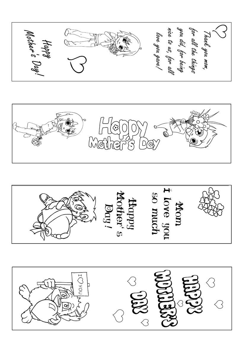 Mother's Day Coloring pages | BlueBonkers - Kids making a cake