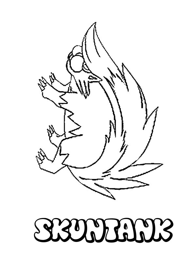 POISON POKEMON coloring pages - Skuntank