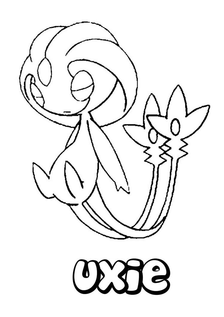 Pokemon coloring pages throh - Pokemon B W Coloring Pages Uxie Pokemon Coloring Page