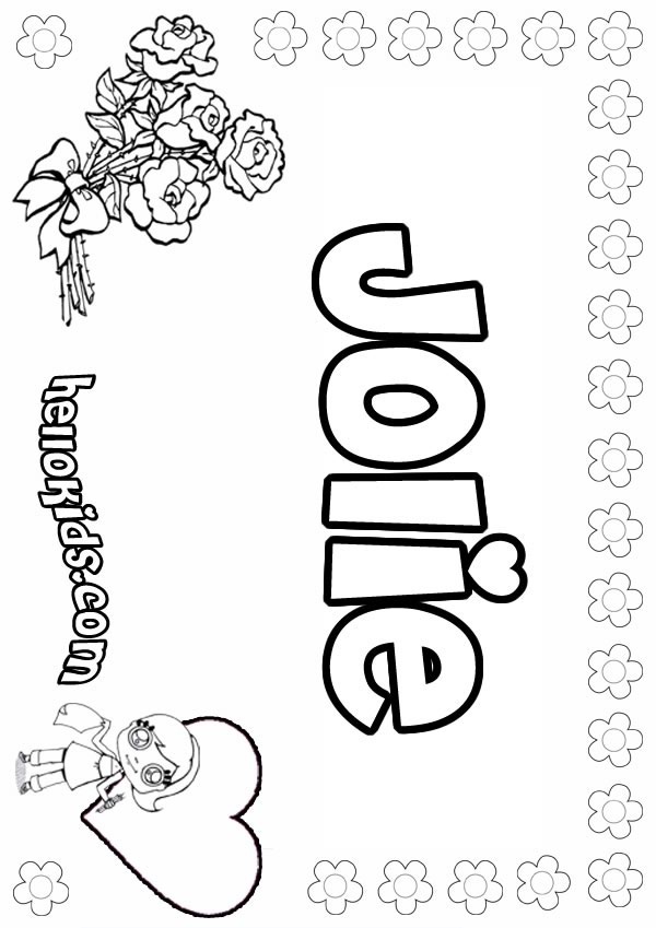 Jolie Coloring Pages Hellokids Com
