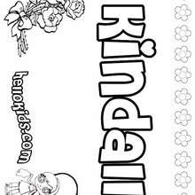 Kindall - Coloring page - NAME coloring pages - GIRLS NAME coloring pages - K names for girls coloring posters