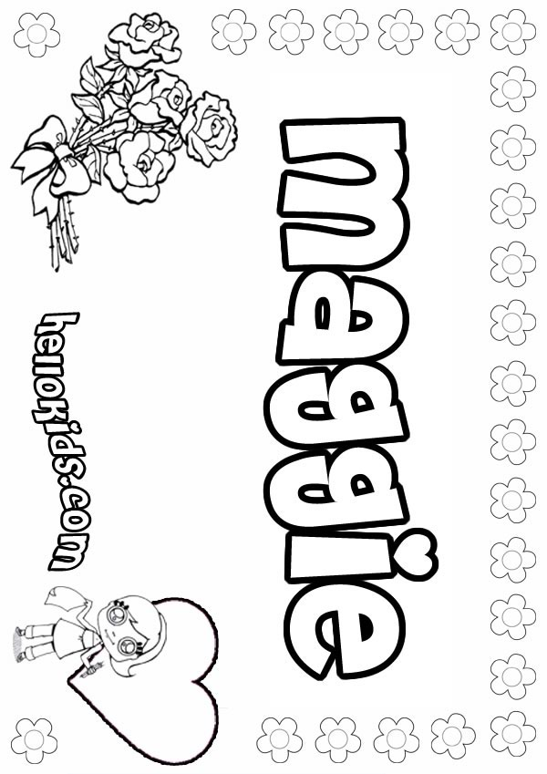 girls name coloring pages Maggie