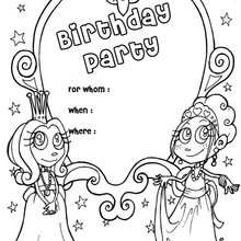 Princess Birthday Party Invitation Coloring Pages Hellokids Com