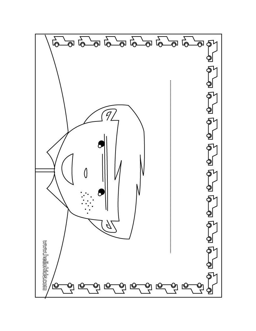 clock door hanger coloring pages hellokids com