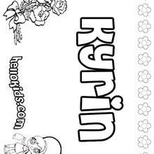 Kyrin - Coloring page - NAME coloring pages - GIRLS NAME coloring pages - K names for girls coloring posters