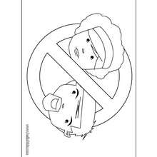 No parents door sign coloring page - Coloring page - DOOR HANGER coloring pages