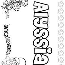 the name alyssa coloring pages | Alyssa coloring pages - Hellokids.com