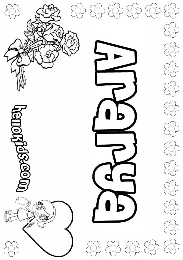 Ararya coloring page