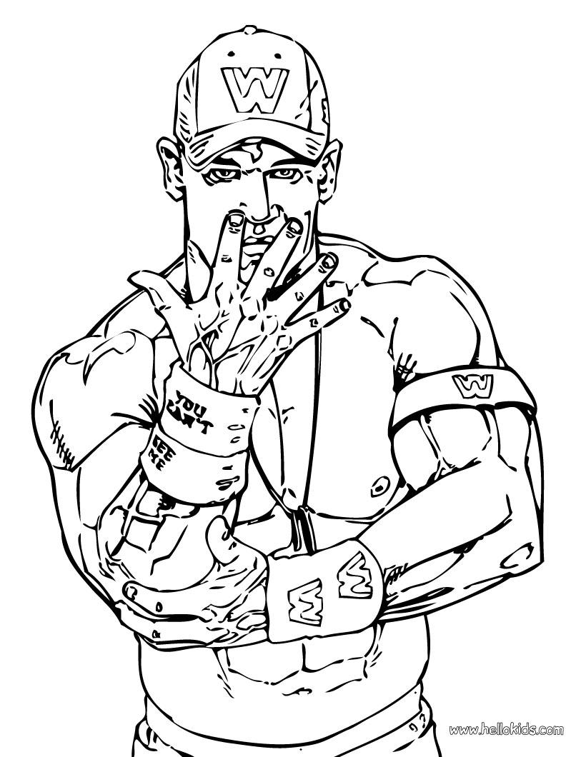Wrestler john cena coloring pages - Hellokids.com