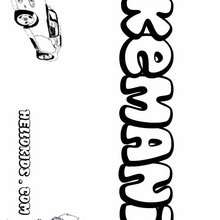 Kemani - Coloring page - NAME coloring pages - BOYS NAME coloring pages - Boys names starting with K or L coloring posters