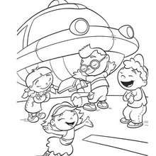 Little Einsteins And Rocket Coloring Pages Hellokids Com