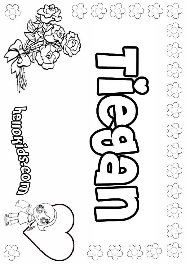 Tiegan coloring page