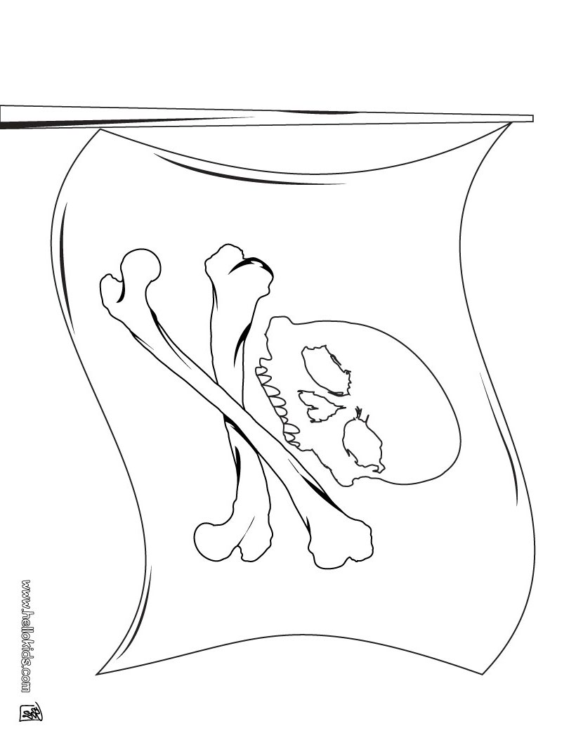 Rica flag coloring page before flag of bermuda u0026middot flag - Pirate Flag Coloring Page