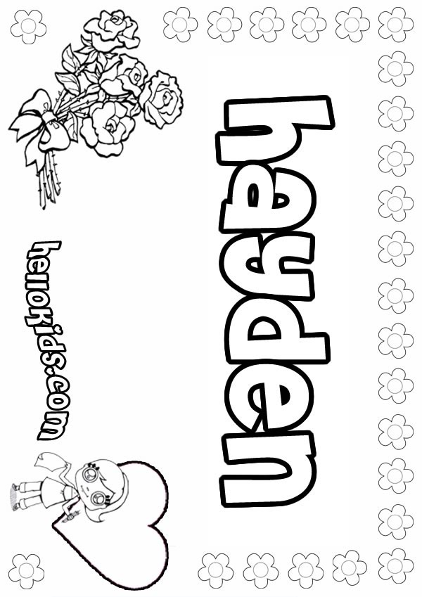 Flower Coloring Pages For