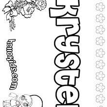 Krystel - Coloring page - NAME coloring pages - GIRLS NAME coloring pages - K names for girls coloring posters