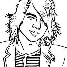 Joe Jonas coloring page - Coloring page - FAMOUS PEOPLE Coloring pages - JOE JONAS coloring pages