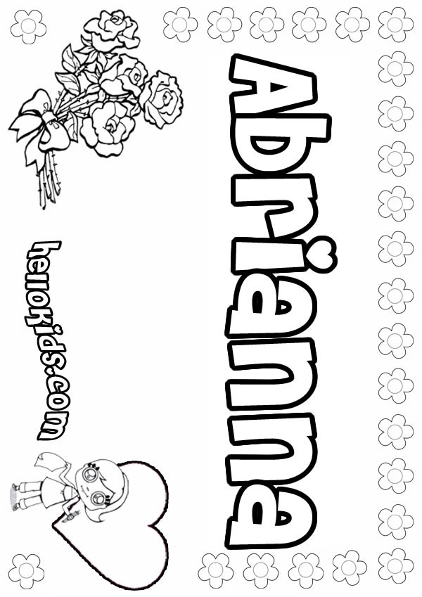 brianna name coloring pages | Brianna Pages Printable Coloring Pages