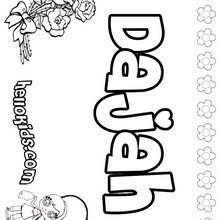 coloring pages letter names daisy - photo#6