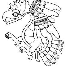 Eagle coloring page - Coloring page - ANIMAL coloring pages - BIRD coloring pages - PREHISPANIC BIRD coloring pages