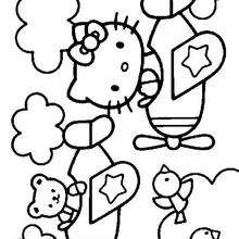 HELLO KITTY Coloring Pages 36 Online Toy Dolls