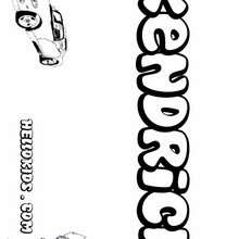 Kendrick - Coloring page - NAME coloring pages - BOYS NAME coloring pages - Boys names starting with K or L coloring posters