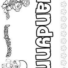 Landynn - Coloring page - NAME coloring pages - GIRLS NAME coloring pages - L girl names coloring posters