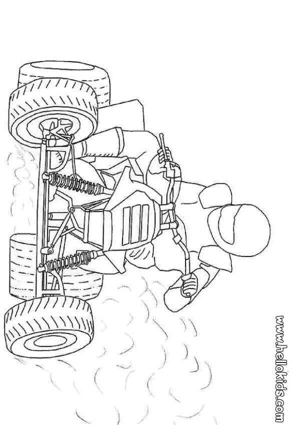 Coloring Pages Quad Bike : Quad coloring pages
