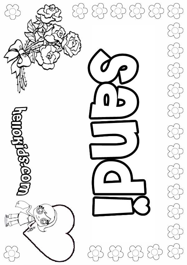 Sandi coloring page
