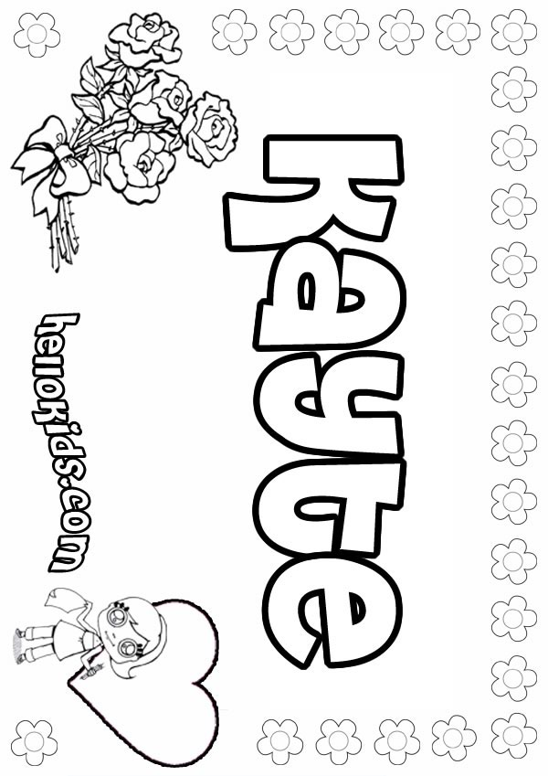 Kayte coloring page