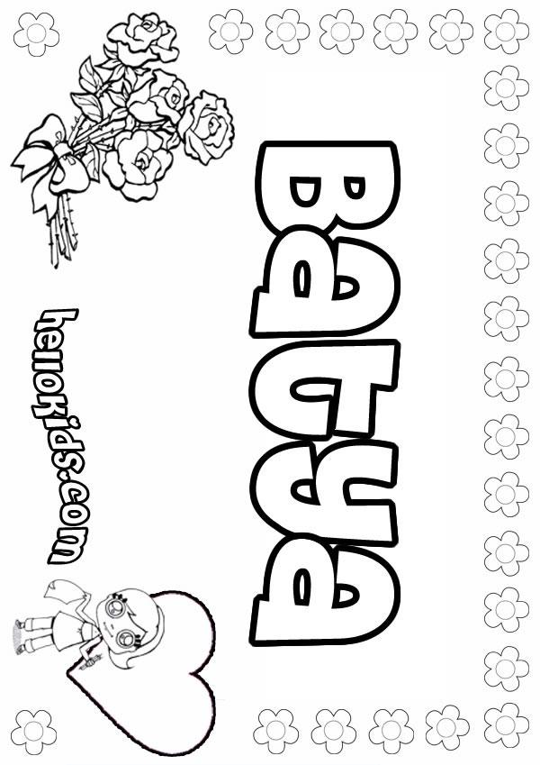 Batya coloring page