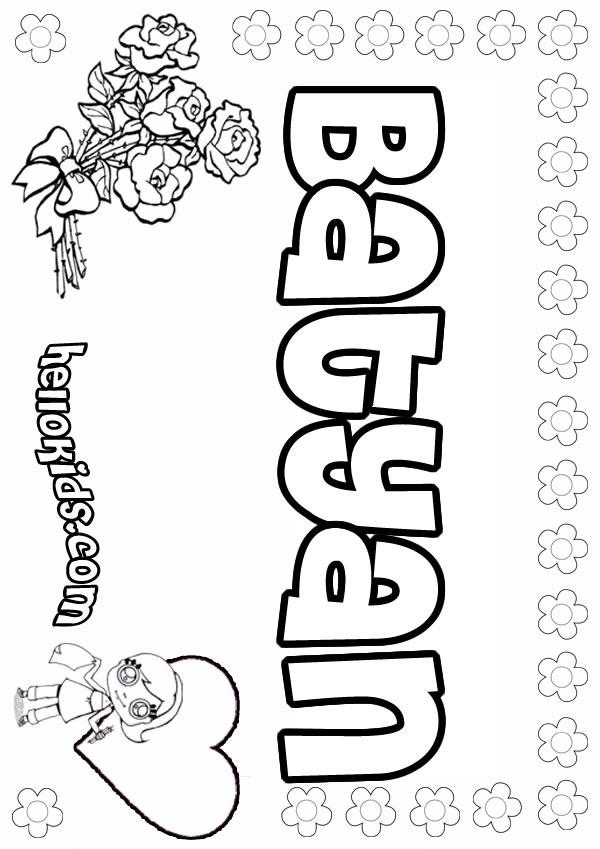Batyan coloring page
