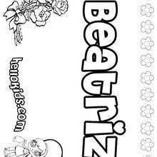 Beatriz - Coloring page - NAME coloring pages - GIRLS NAME coloring pages - B names for girls coloring sheets