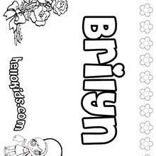 Brilyn - Coloring page - NAME coloring pages - GIRLS NAME coloring pages - B names for girls coloring sheets