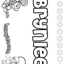 Brynlee - Coloring page - NAME coloring pages - GIRLS NAME coloring pages - B names for girls coloring sheets