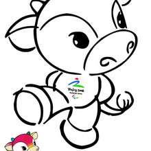 Fu Niu Lele Beijin olympic mascot coloring page