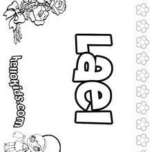 Lael - Coloring page - NAME coloring pages - GIRLS NAME coloring pages - L girl names coloring posters