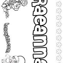 Raeanna - Coloring page - NAME coloring pages - GIRLS NAME coloring pages - R names for girls coloring posters