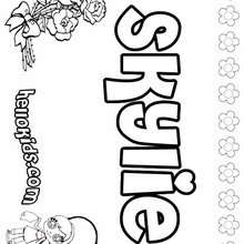 Skylie - Coloring page - NAME coloring pages - GIRLS NAME coloring pages - S girls names coloring posters