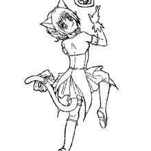 Ichigo Momomiya coloring page