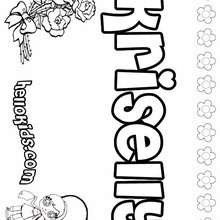 Kriselly - Coloring page - NAME coloring pages - GIRLS NAME coloring pages - K names for girls coloring posters