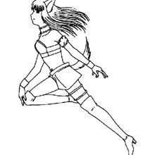 Running Zakuro Fujiwara coloring page