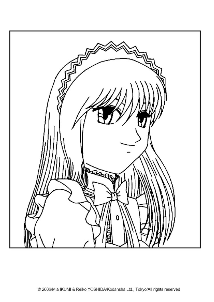 fighting zakuro fujiwara zakuro fujiwara portrait coloring page coloring page manga coloring pages tokyo mew mew - Manga Coloring Pages