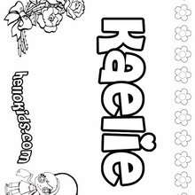 Kaelie - Coloring page - NAME coloring pages - GIRLS NAME coloring pages - K names for girls coloring posters