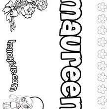 Maureen - Coloring page - NAME coloring pages - GIRLS NAME coloring pages - M names for girls coloring posters